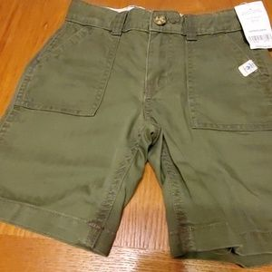 Boys olive color carters shorts nwt